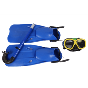 ÓCULOS C/ RESPIRO BARBATANAS SWIMMING SET